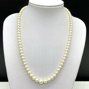 Vintage 14k White Gold Freshwater Pearl Necklace